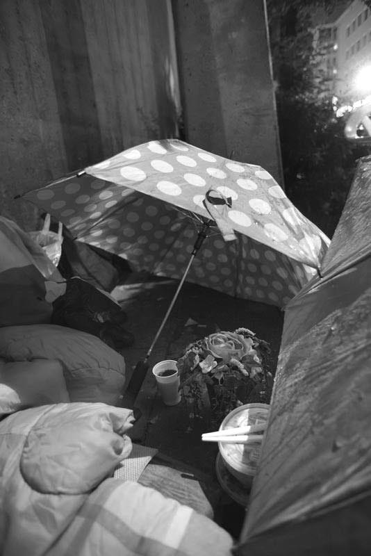 Obdachlosen Schlafplatz
